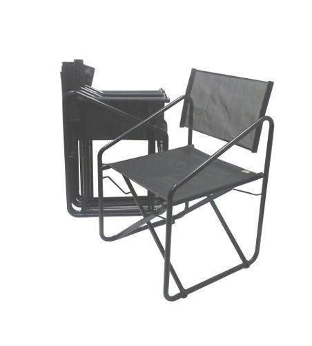 Mid Century Folding Director Patio Chairs By Brown Jordan Set Of
