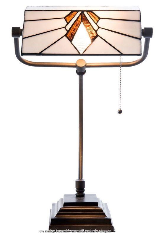 Klassische TIFFANY Bankeru0027s Lamp ANCONA. 32 Cm ø. 56cm Hoch. 1 XE