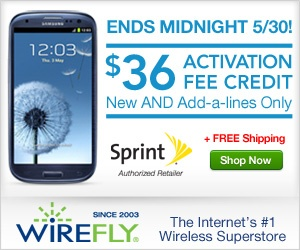 #cell phones, #phones  #shopping  http://www.planetgoldilocks.com/freephones.html    Sprint #FREE Activation at Wirefly! Save 36 per line up to 180 for a family plan! Ends midnight 5/30 .   Use Wirefly Coupon Code WIREFLY4G12 for a FREE 4GB Memory Card with phone purchase   Shop Wirefly and get FREE SHIPPING - No #Coupon Code required   Save 36 per line up to 180 with a family plan with Sprint FREE Activation at Wirefly! Hurry, ends midnight 5/30!