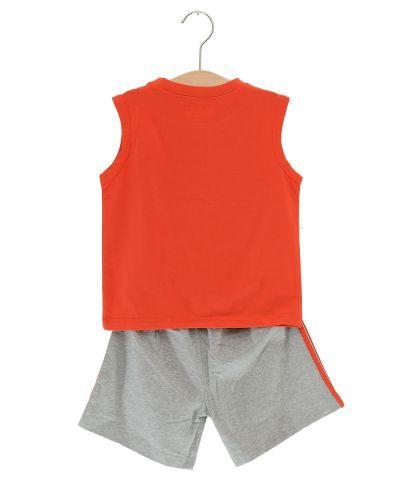 SB38001-1- Bộ quần áo thun bé trai Disney màu cam dễ thương (3 màu -7 size)