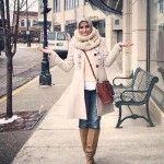 Elegant hijab street styles