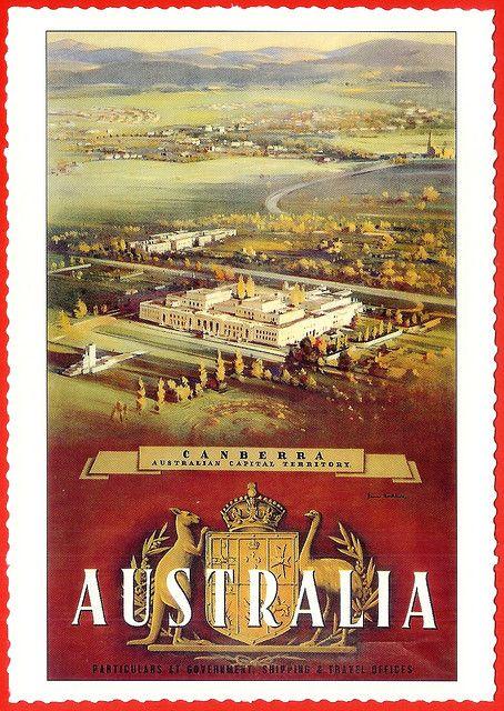 Australian Vintage Postcard: Canberra