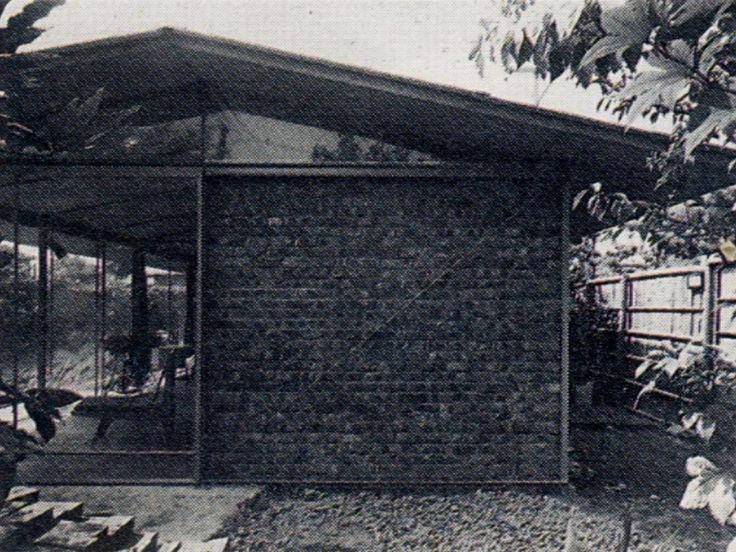 Mathematician house 1954 数学者の家 清家清   Japanese Mid Century ...