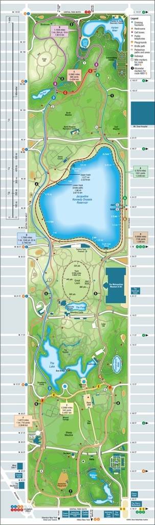 3. Ultimate running route: what runner does not want to run in Central park? Bucket list run for sure!  Central Park Running Map  #runningroom  #myultimaterun
