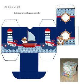 Caja porta golosinas marinero