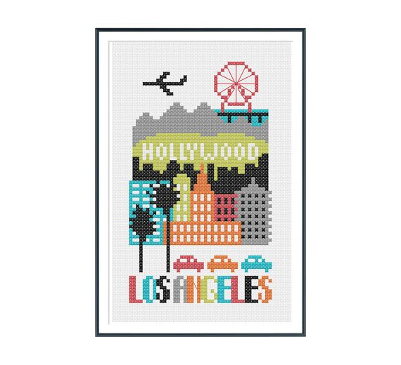 Vancouver Canada Cross Stitch Pattern Instant by tinymodernist