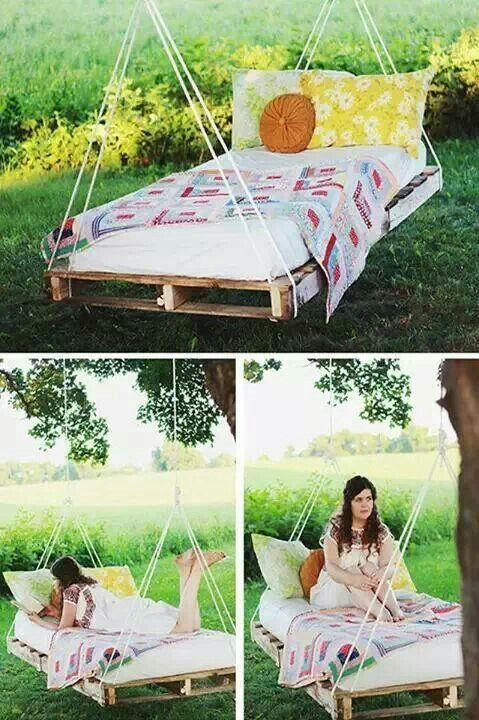 pallet bed. Why not?!