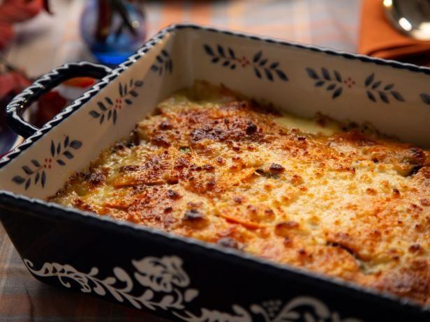 So Cal Sweet Potato And Potato Gratin Recipe With Images Potato Gratin Food Network Recipes Potatoes