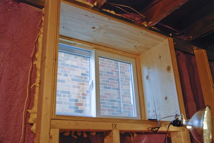 Framed Basement Window Basement Ideas Pinterest