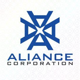 Exclusive Customizable A Letter Logo For Sale: Aliance Corporation | StockLogos.com