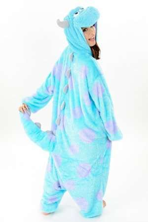 Beastly Adult Onesies - The Kigurimi Monster's Inc. Pajamas are Cozy and Playful (GALLERY)