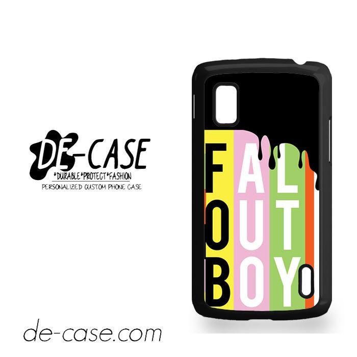 Fall Out Boy For Google Nexus 4 Case Phone Case Gift Present YO