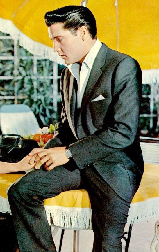 Elvis Presley in a movie still (It Happened at the World's Fair).