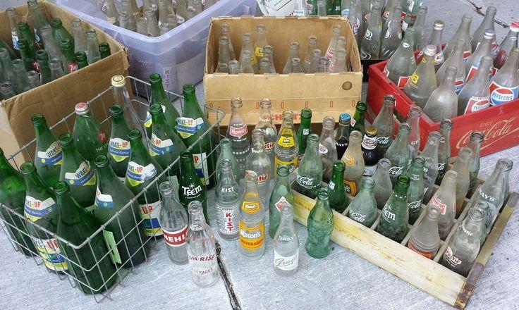 Vintage Soda Bottle & Bedspring Hummingbird Feeders ~