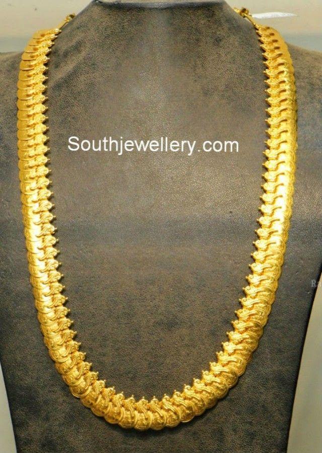 Peacock Design Plain Gold Kasulaperu
