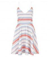 Pastel Stripe V-Neck Midi Dress £29.99 €39.99