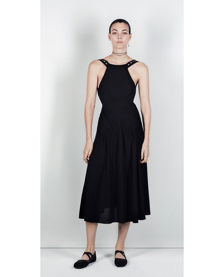 ZARA - TRF - STUDIO EMBROIDERED DRESS WITH RINGS DETAIL
