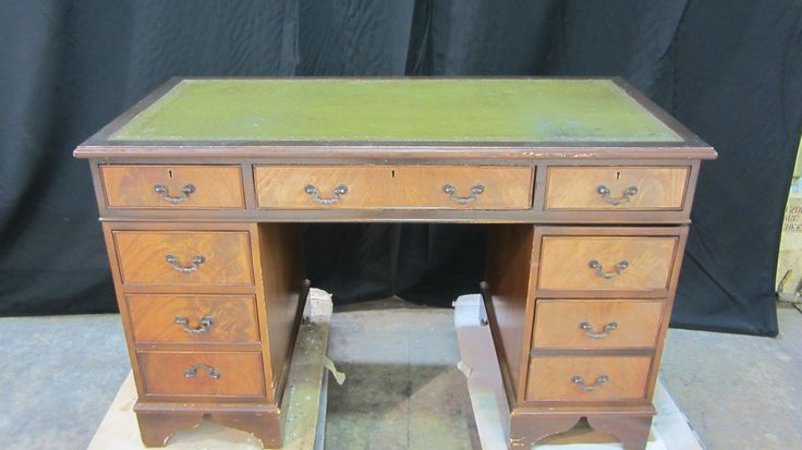 The Stewart's project: #mahogany #office #desk in for #repairs and #refinishing