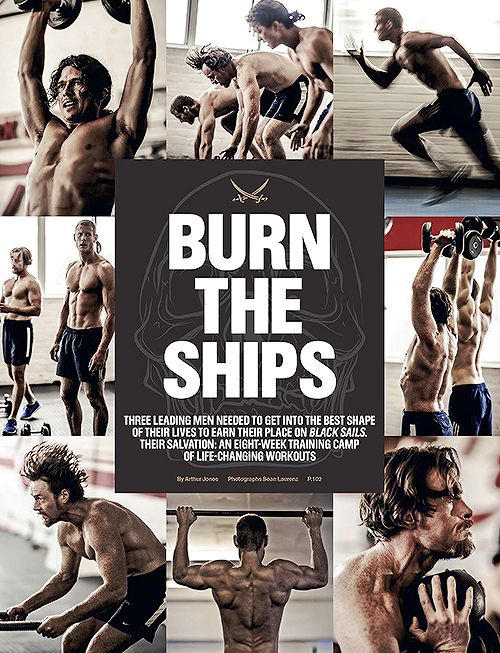 Black Sails' Tom Hopper, Luke Arnold and Toby Stephens for Men's Health South Africa