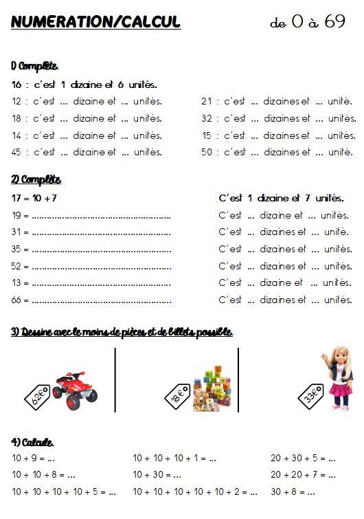 FICHIER DE MATHEMATIQUES CE1 | Mathematique ce1, Ce1 et Exercice ce1