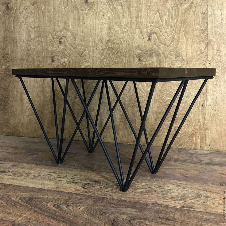 Купить Журнальный стол CREW. - черный, стол, столик, лофт, лофт стол, лофт столик