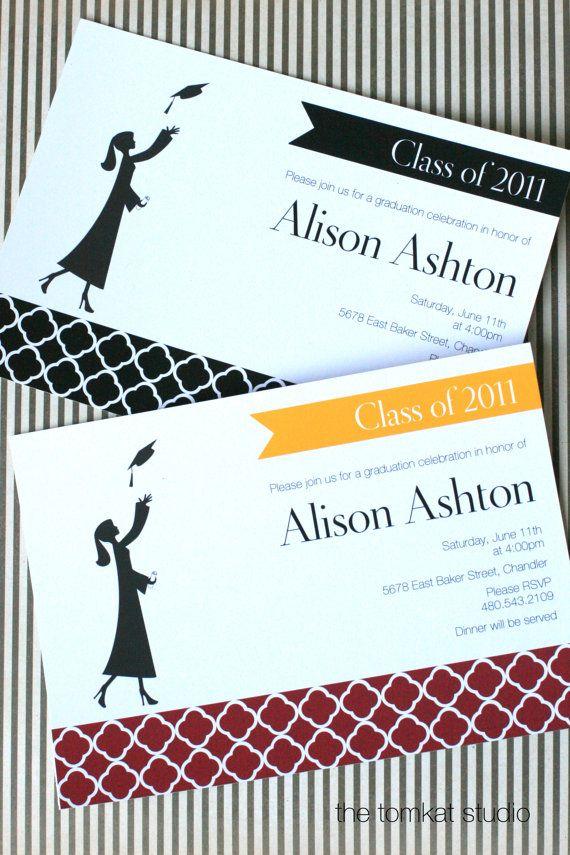 classy grad party invites