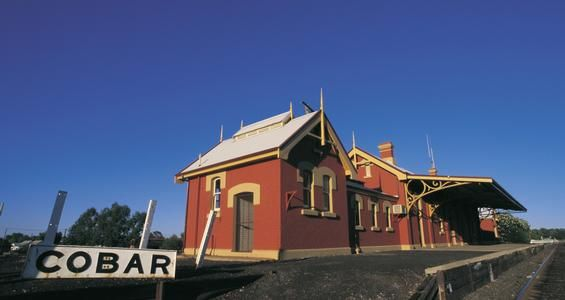 Cobar Railway Station - Sanctuary projection
