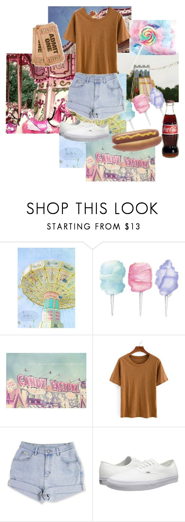 """""""State fair outfit"""" by dancing-in-the-lightxx ❤ liked on Polyvore featuring Cotton Candy, Vans, statefair and summerdate"""