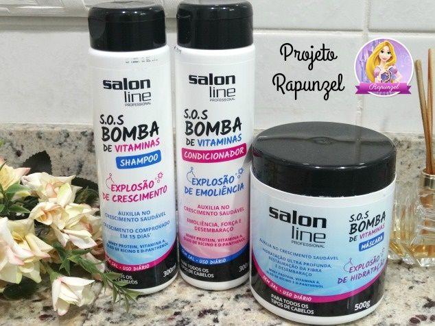 linha S.O.S Bomba de Vitaminas da Salon Line 1