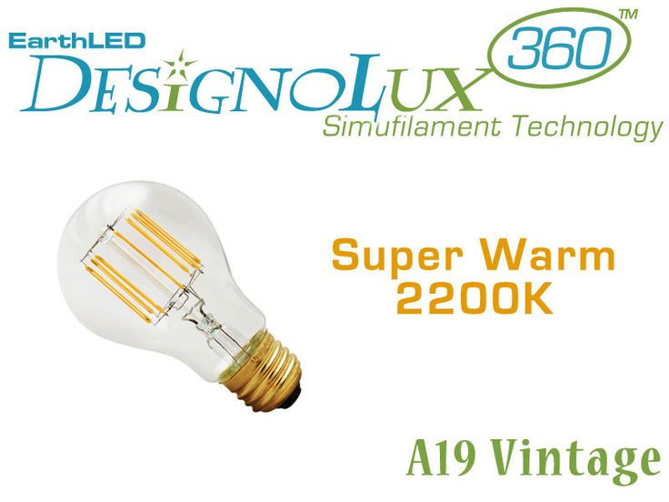 EarthLED DesignoLux 360 Vintage 60 Watt Antique Style A19 LED Bulb | EarthLED.com