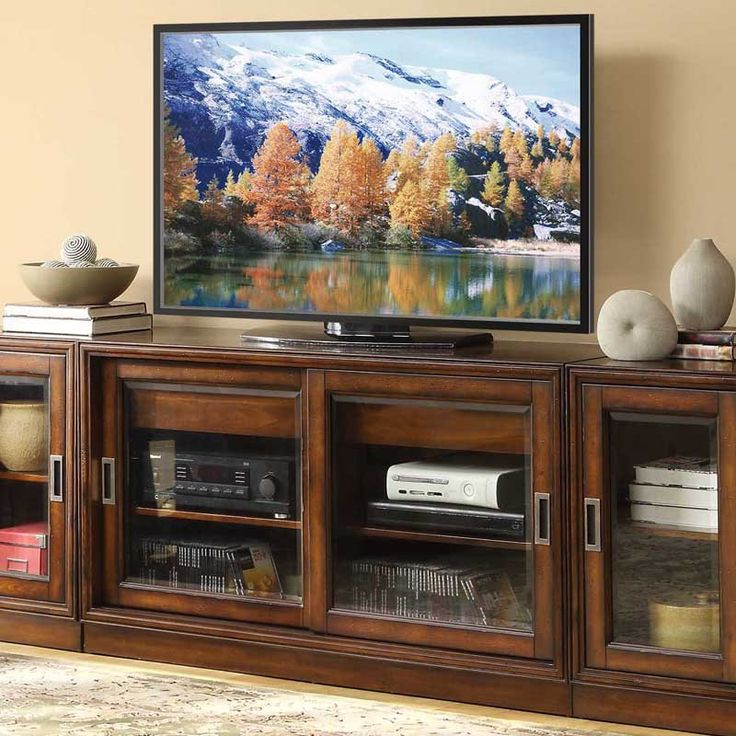 apa marketing by whalen lancaster 54 in tv stand brown cherry from hayneedle