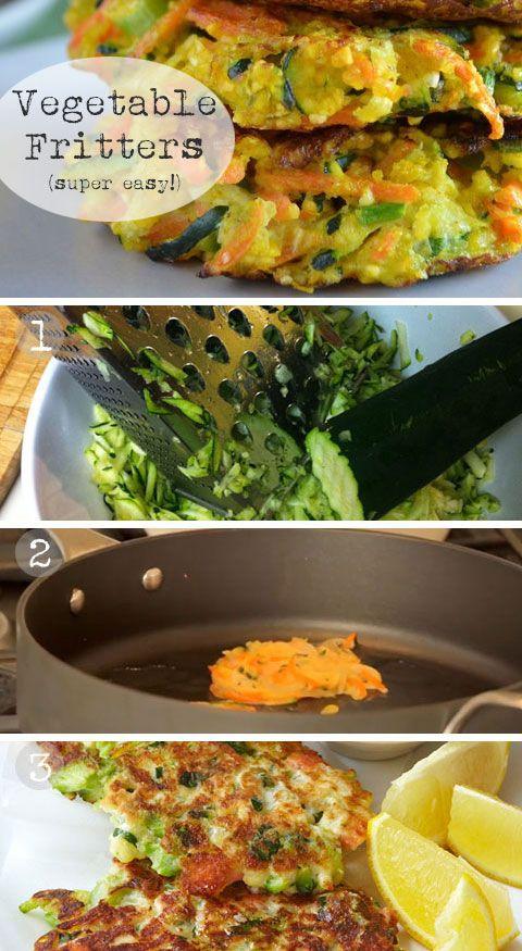 Vegetable Fritters - Vegetable Recipes for Kids - Easy Paleo Dinner Recipes