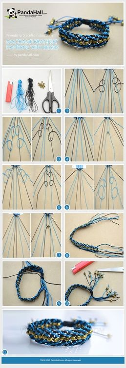 sandylandya@outlook.es  Jewelry Making Idea--How to Make Friendship Bracelet in Macramé Pattern