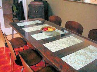 Mesa de Comedor realizada con puerta reciclada Dinner Table made with upcycled door