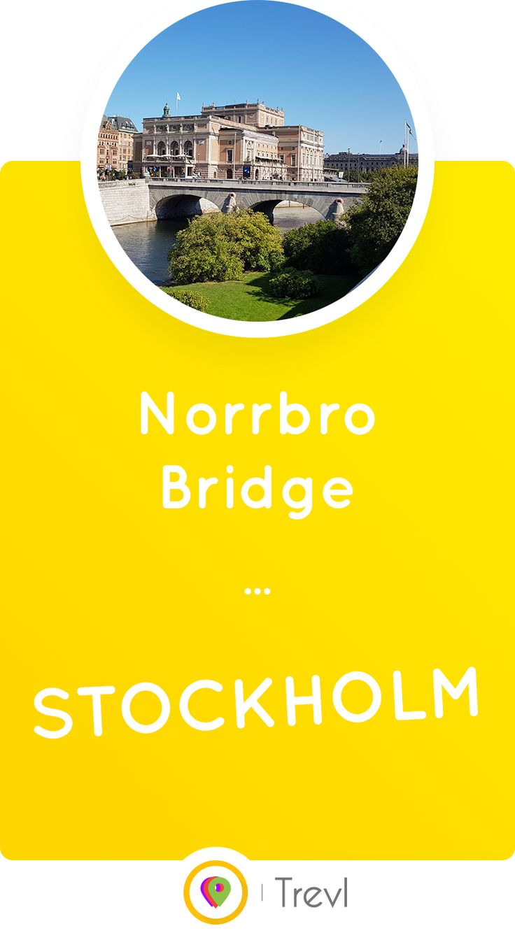 Norrbro Bridge connecting Stockholm Royal Palace to the more modern parts of the city is the last remaining stone bridge in Stockholm