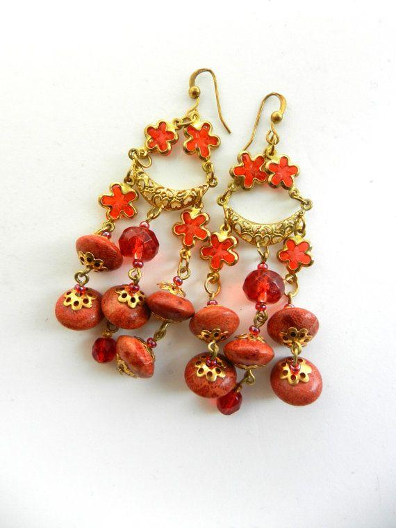 Dazzling earrings chandelier  beautiful genuine by RAKcreations