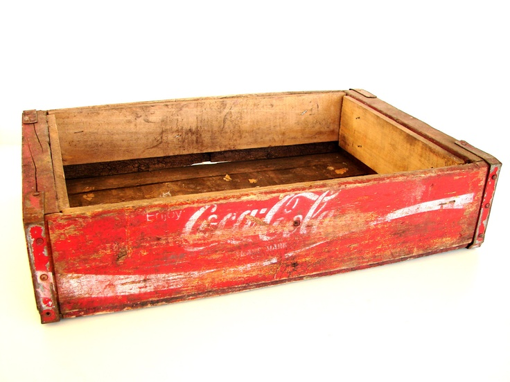 Vintage coca cola wooden beverage crate coke crate c for Wooden soda crate ideas
