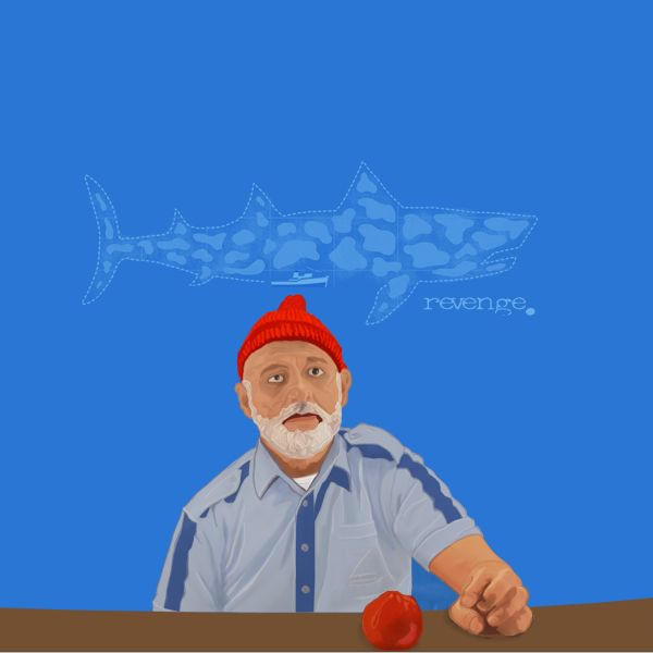 The Life Aquatic with Steve Zissou.  Graphic made by symulakrum.tumblr.com using a still from a wonderful movie by Wes Anderson.