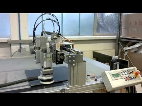 Sanding and Polishing Machine HBS2500-2 for lacquer MDF panels - YouTube