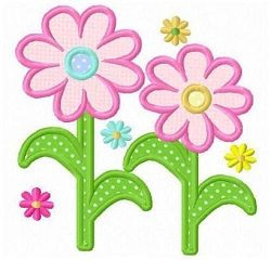 Daisy Flowers Applique - 3 Sizes! | Floral - Flowers | Machine Embroidery Designs | SWAKembroidery.com Fun Stitch