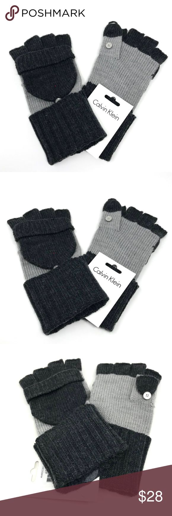 Calvin Klein Gray Metallic Knit Flip-Top Gloves NWT Calvin Klein Womens Gray Metallic Knit Flip-Top Gloves MSRP $38  Details:  Calvin Klein  100% authentic  Condition: brand new with tags  Retail price: $54 plus tax  Beanie  Color: gray  Material: acrylic  Size: one size   Metallic throughout  Style number: A6KG2381 UPC: 889609081609 Calvin Klein Accessories Gloves & Mittens