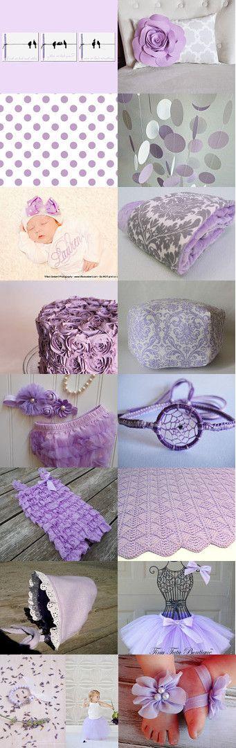 Lavender Baby Nursery by errikos artdesign on Etsy