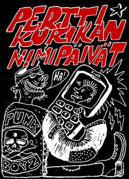 Pertti Kurikan Nimipäivät T-Shirt by Vilunki. Shall be sold exclusively at Kuudes Aisti festival in the end of July.