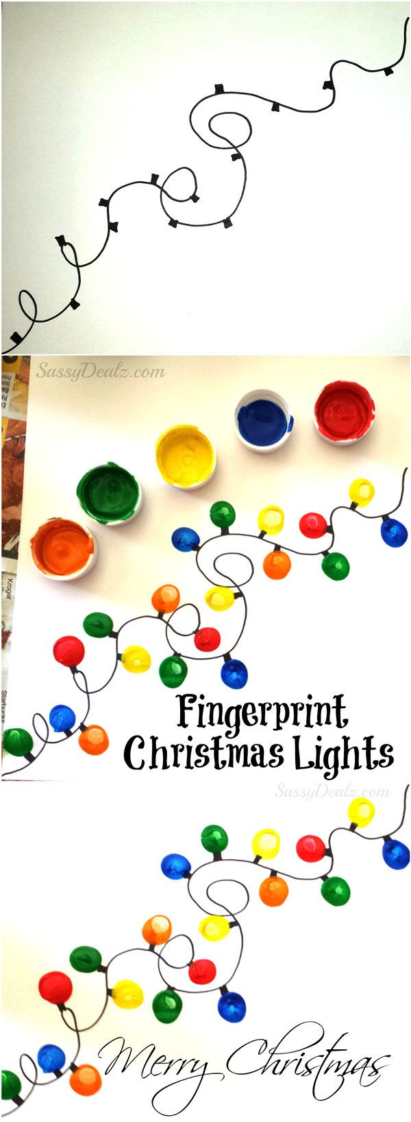 Fingerprint Christmas Light