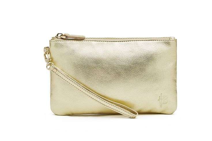 H Bluter Mighty Purse Gold Shimmer - R$ 683,00