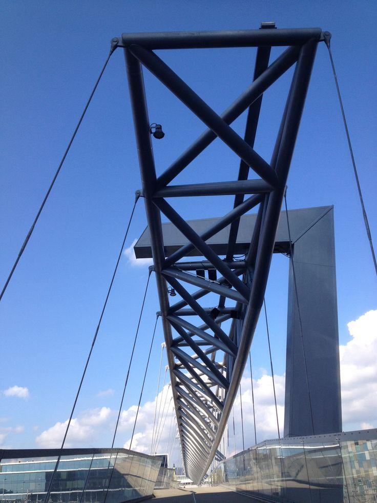 Bridge over Oslo Sentral Stasjon, Oslo Norway