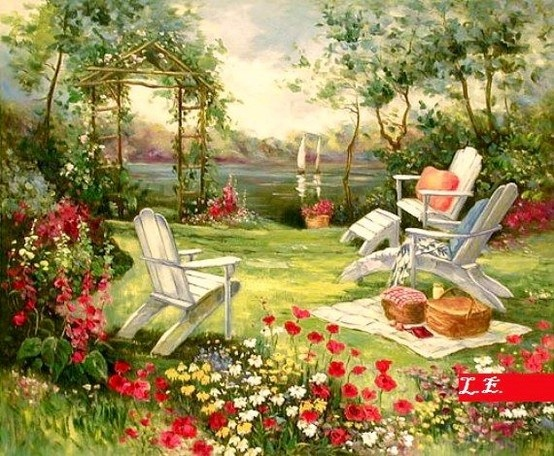 Simple Flower Garden Paintings 236 best charming gardens ❤♡❤ images on pinterest | landscapes