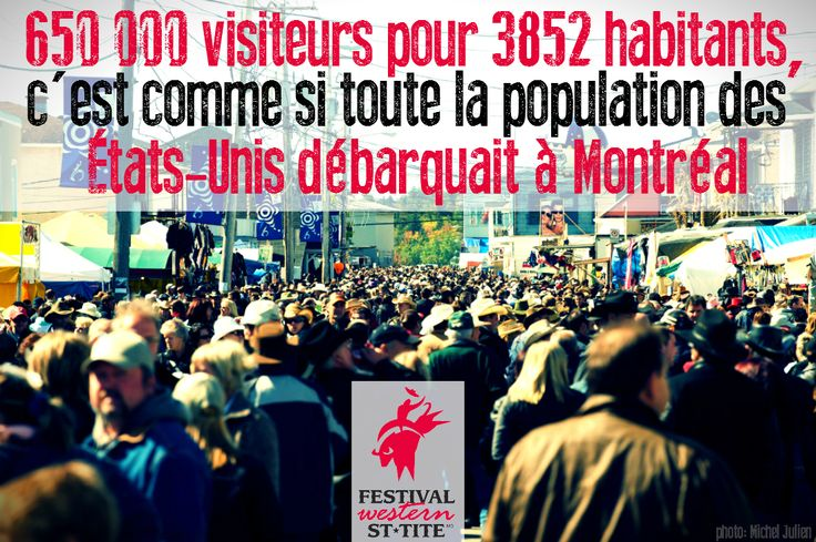 650 000 visitors in a town of 3 852 people is like the whole population of the United States invading a city like Montreal / Festival Western de St-Tite / #mauricie #canada #quebec #rodeo #festival #western #cowboy #country #st-tite #crowd #foule