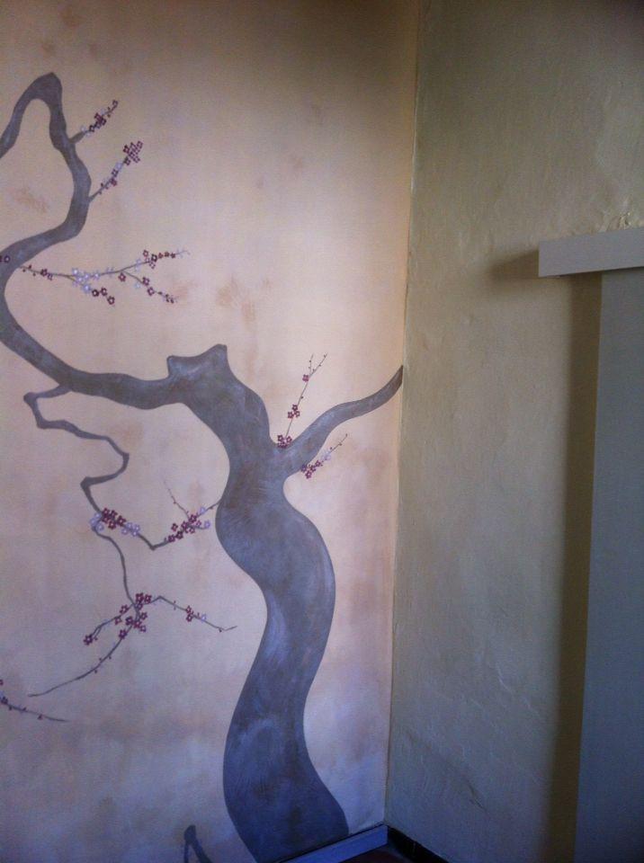 Decorazione in stile giapponese per il mio studio di naturopatia. L'oriente nell'ingresso reception..