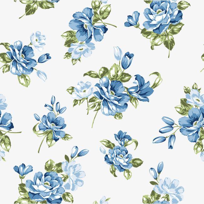 Fundo Azul Com Flores Azul Flores Background Imagem Png E Vetor Para Download Gratuito Blue Flowers Background Watercolor Flowers Pattern Flower Backgrounds